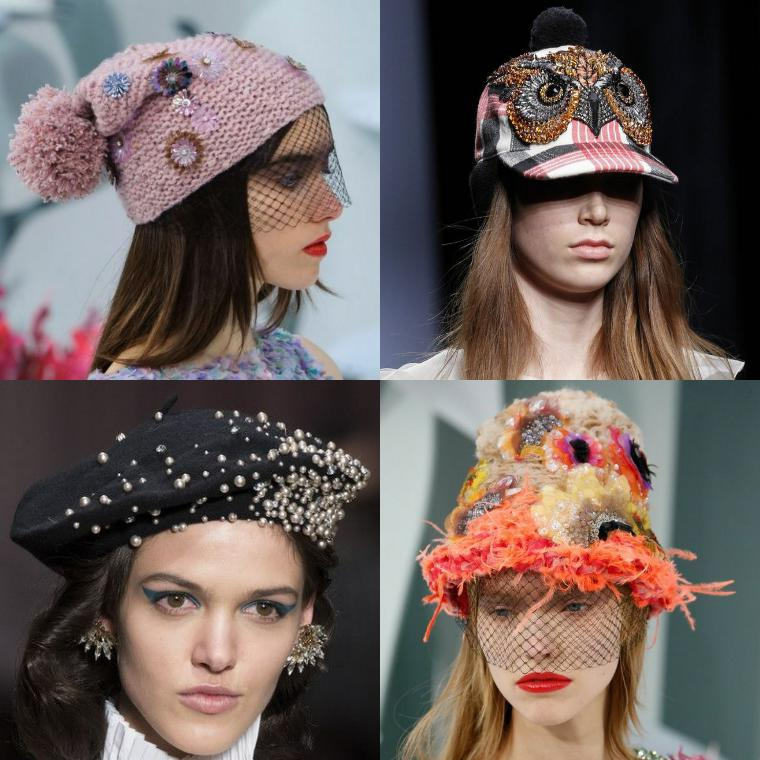 различный декор шапок