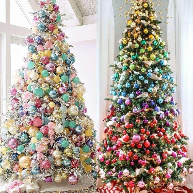 Радужный декор елки