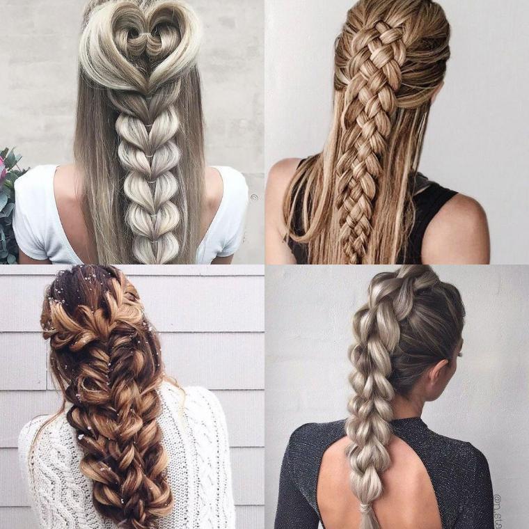 плетения на длинных волосах