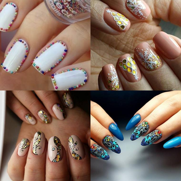 Варианты новогоднего дизайна ногтей