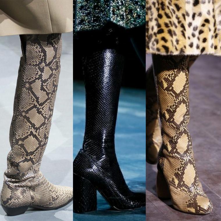 модные модели из рептилий