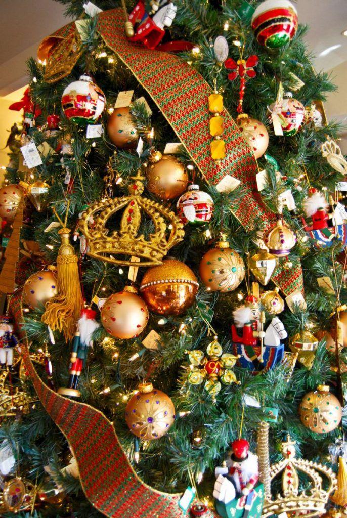 золотые шары на елке