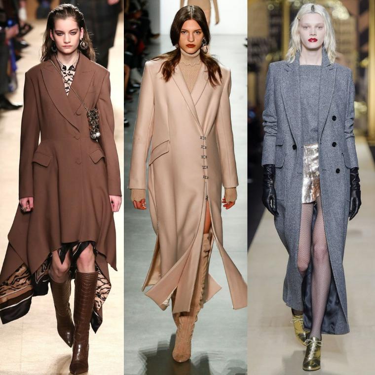 Удлиненные варианты пальто
