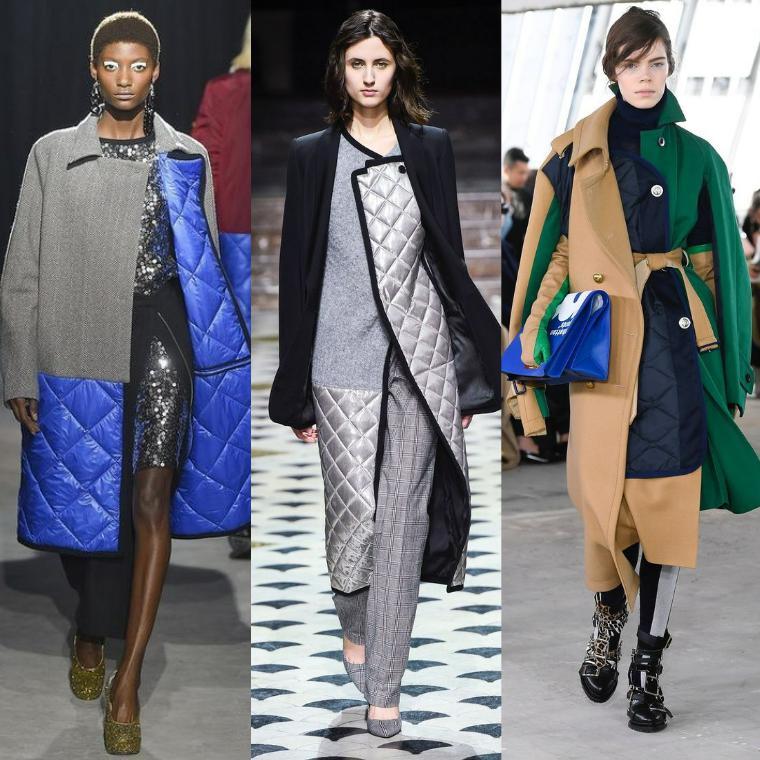 Стеганное на синтепоне зимнее пальто
