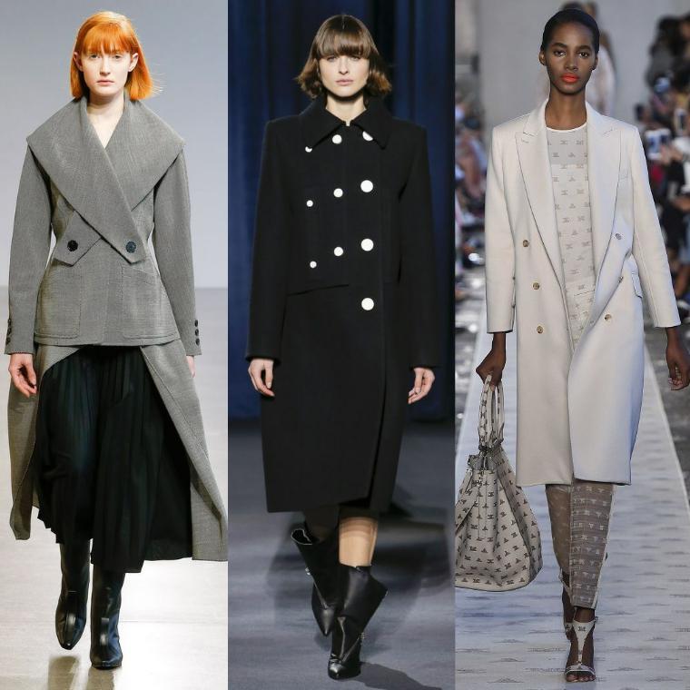 Минималистический образ пальто