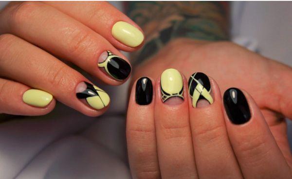черный и желтый дизайн