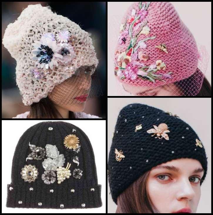 декор шапок вышивкой