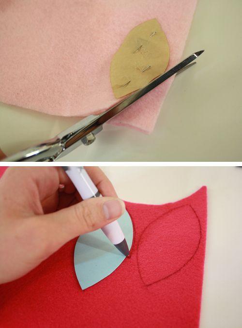 вырезание деталей из ткани