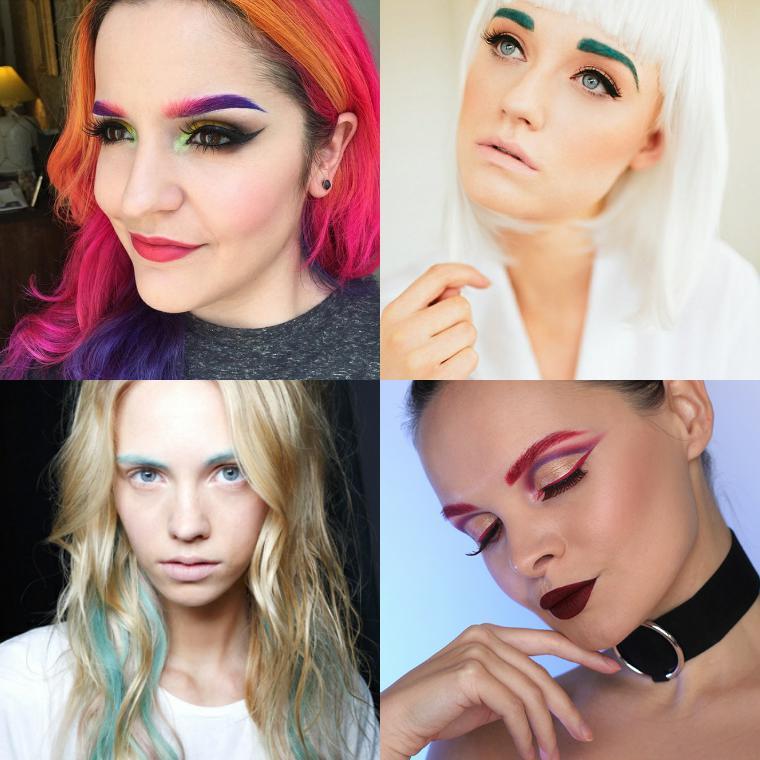тренд цветные брови