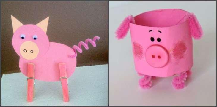 бумажные поделки свинки