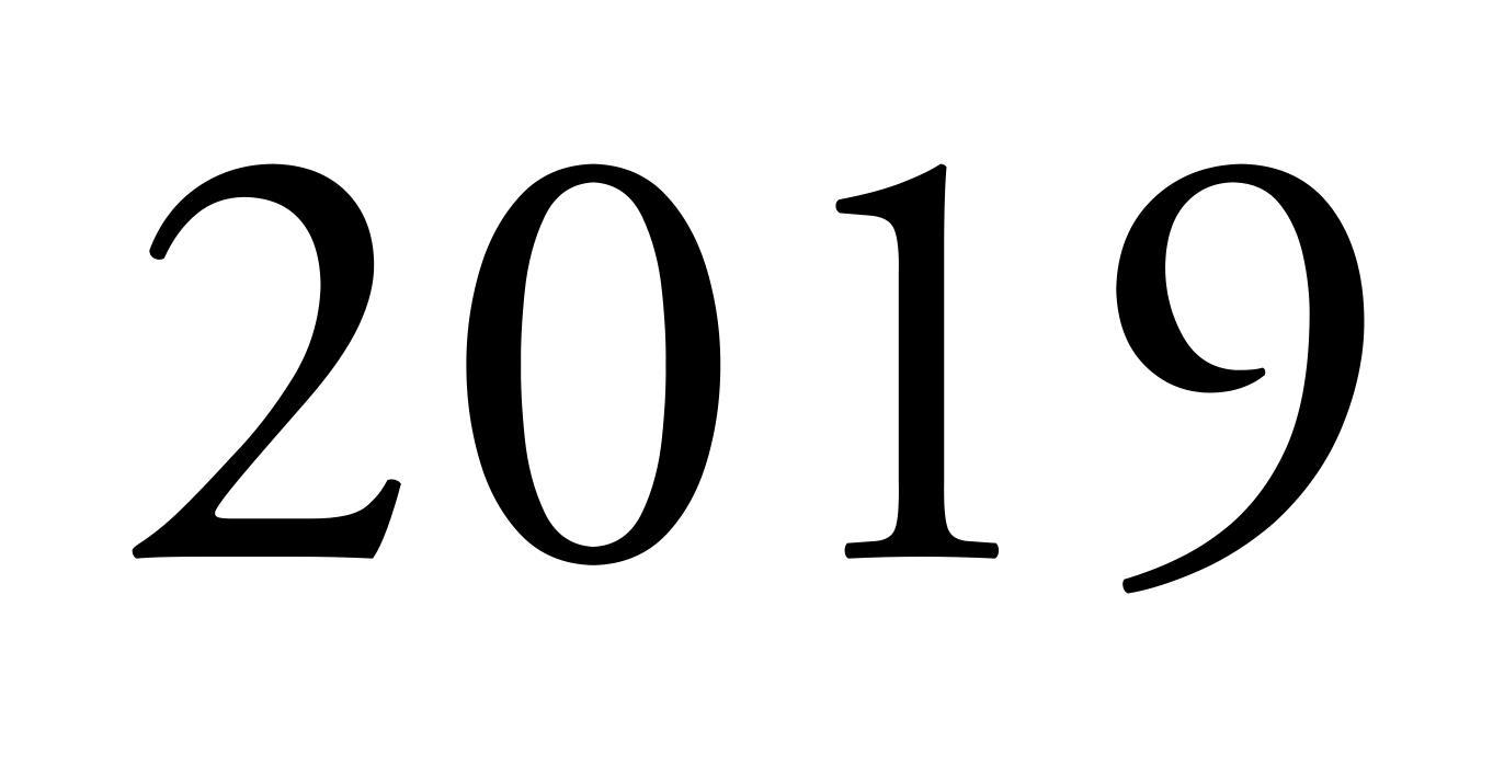 цифры 2019 для украшения окон