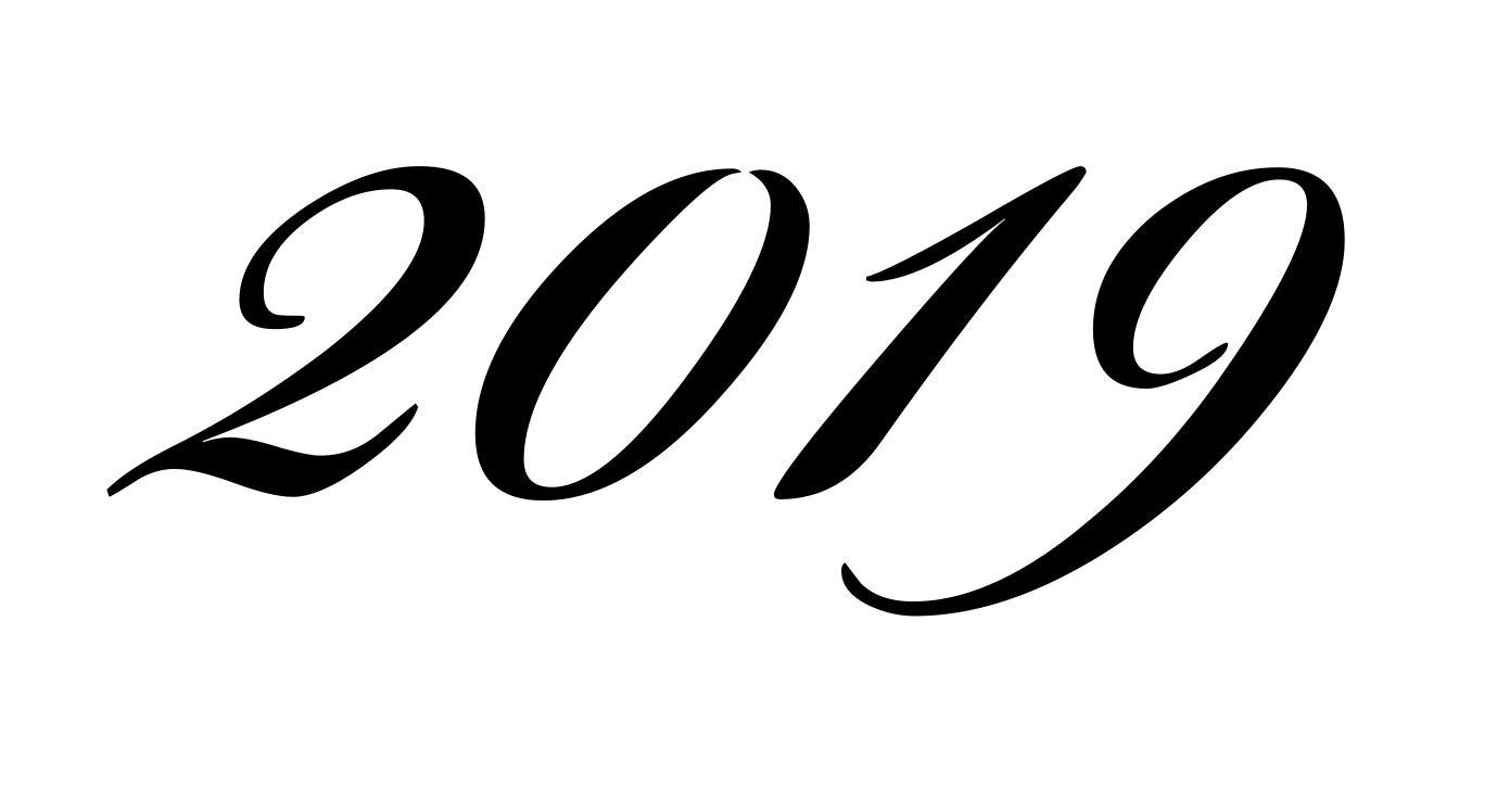 цифры 2019 шаблон для вырезания