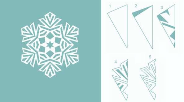 схема для вырезания снежинки 2