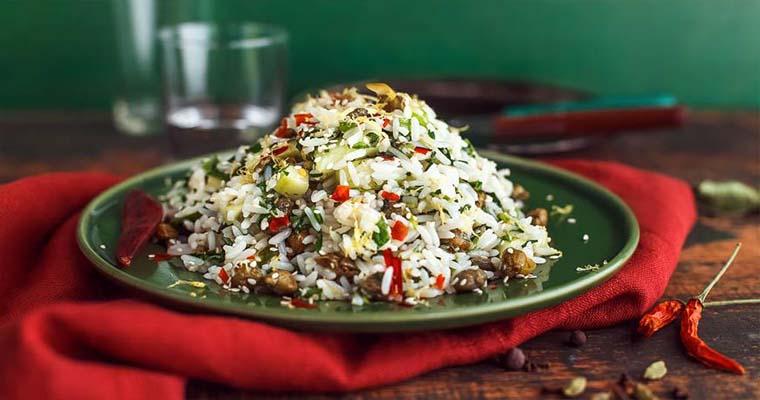 Салат с рисом и эстрагоном