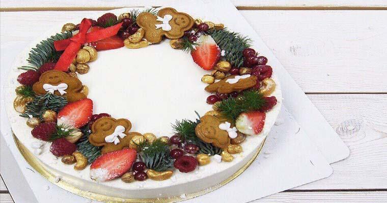 красивый новогодний торт