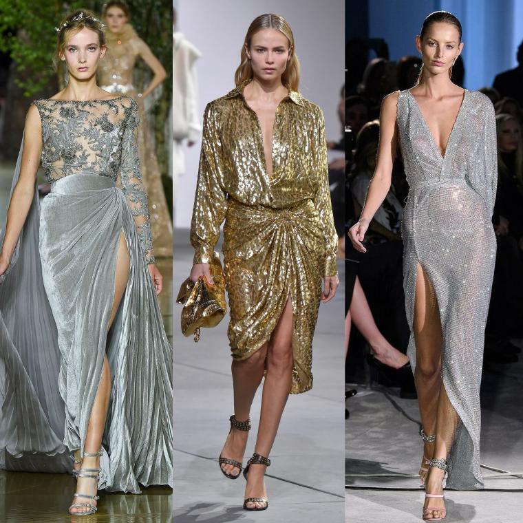 Платья металлик и золото