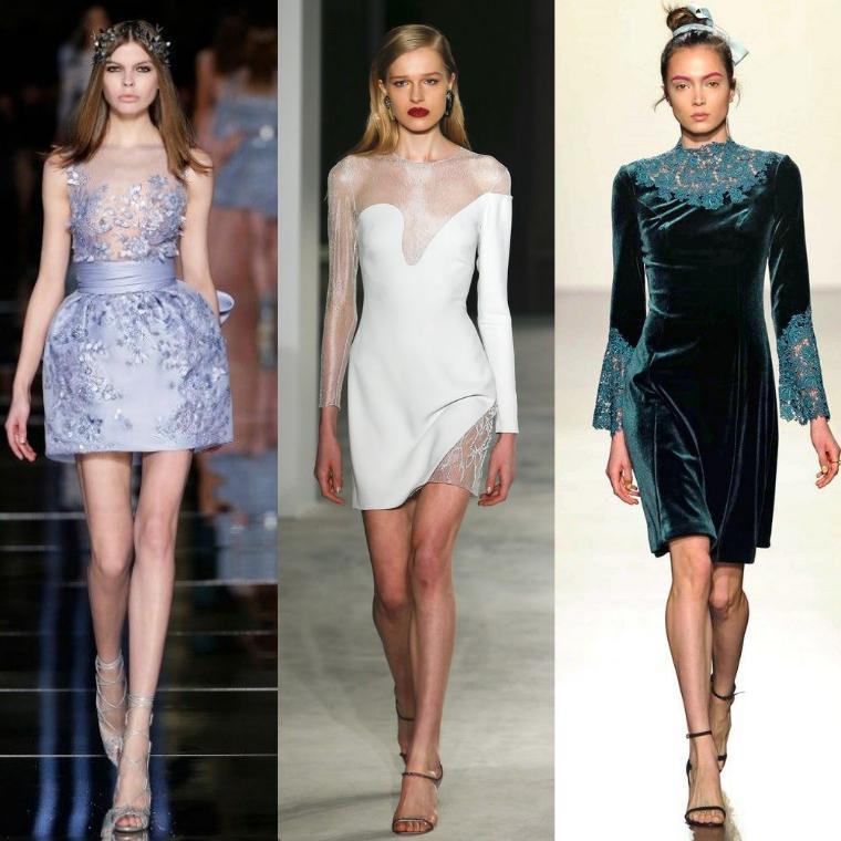 коктейльные платья разной длины
