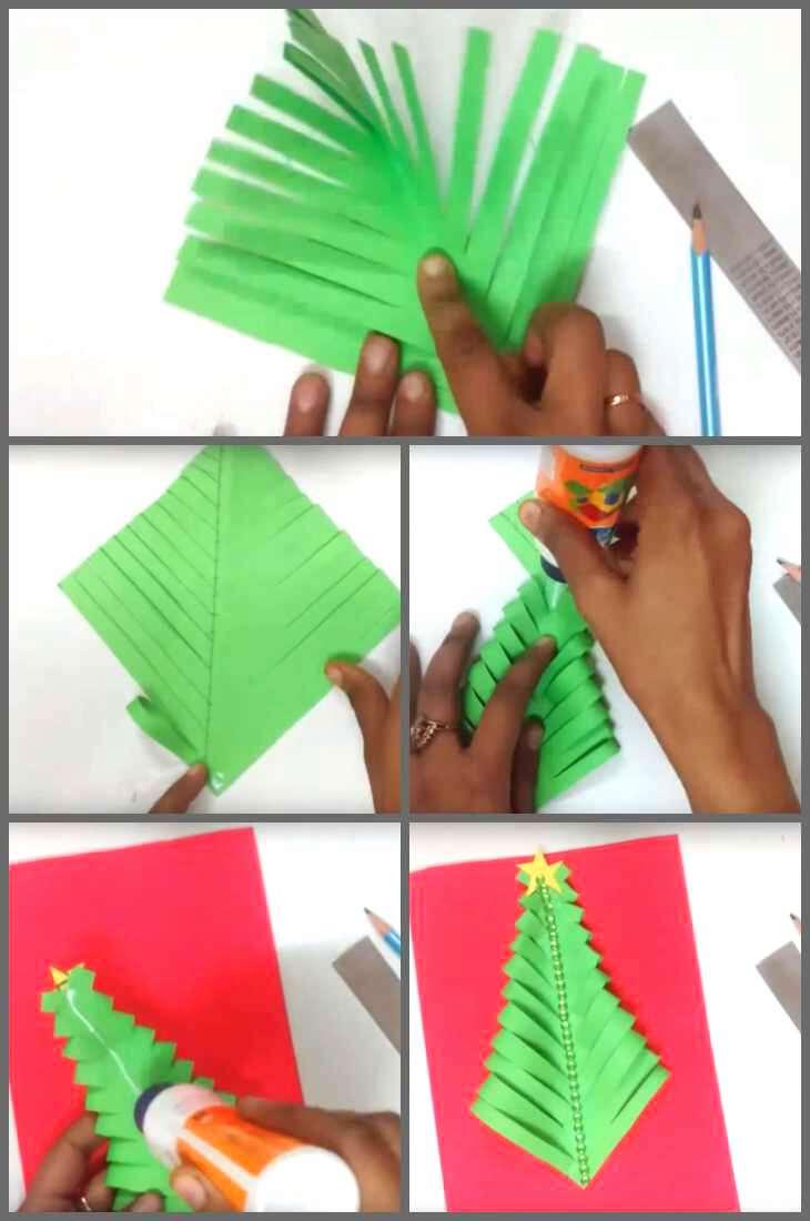изготовление открытки из бумаги