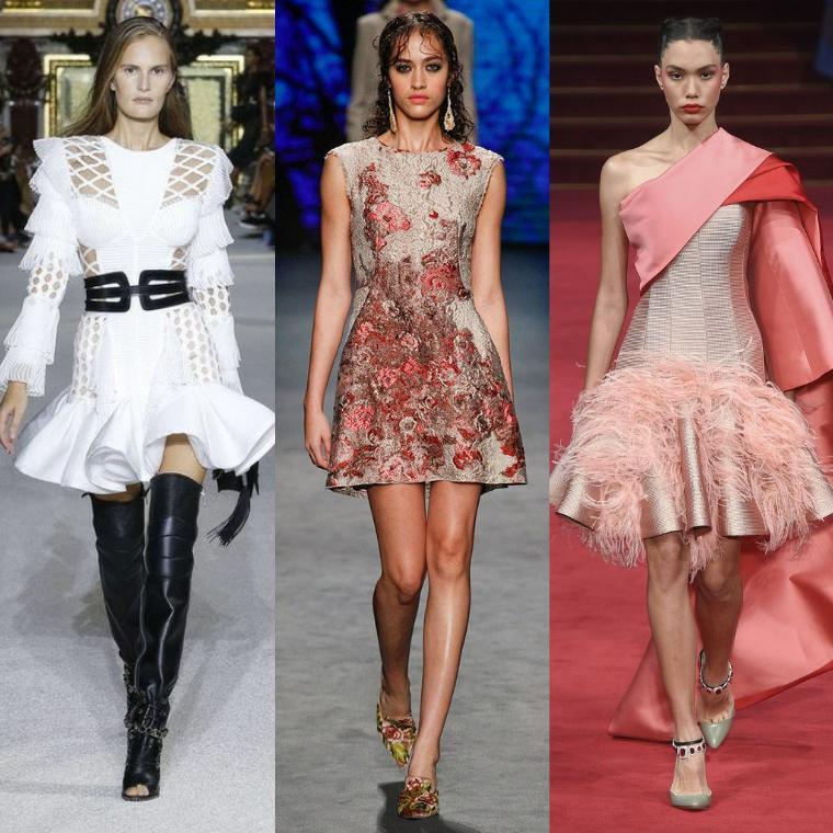 новогодние платья короткой длины