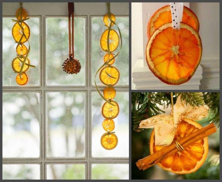 новогодние украшения из апельсин