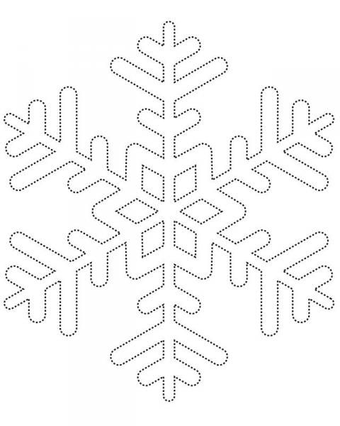 классическая снежинка