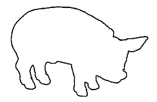 трафарет на 2019 год свиньи