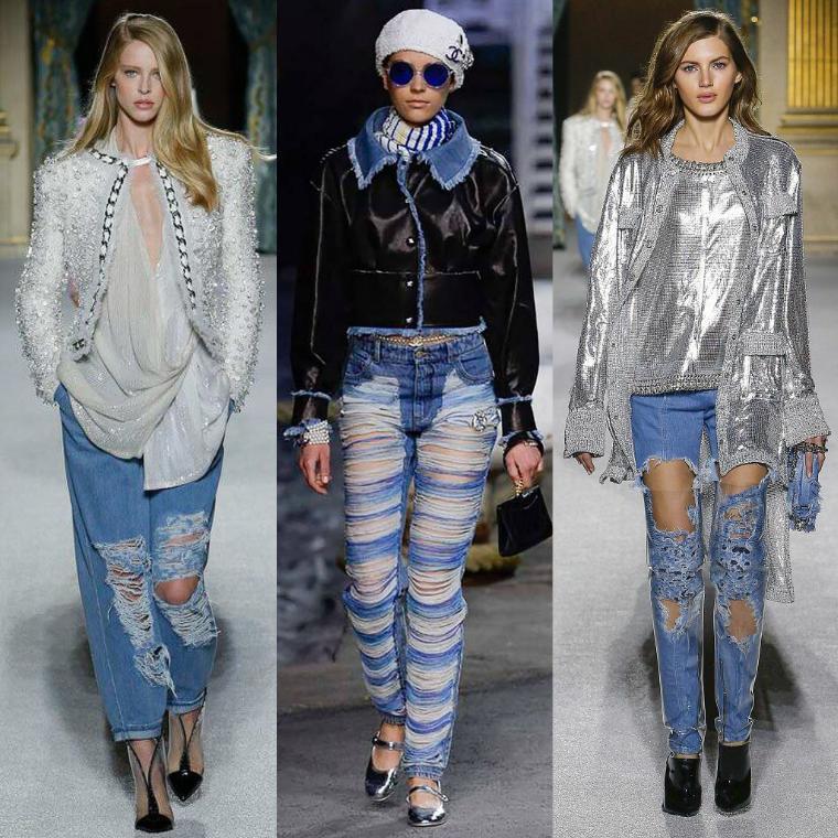 Рваные джинсы с потертостями