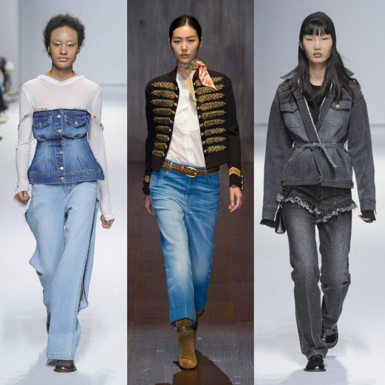 джинсы разного цвета