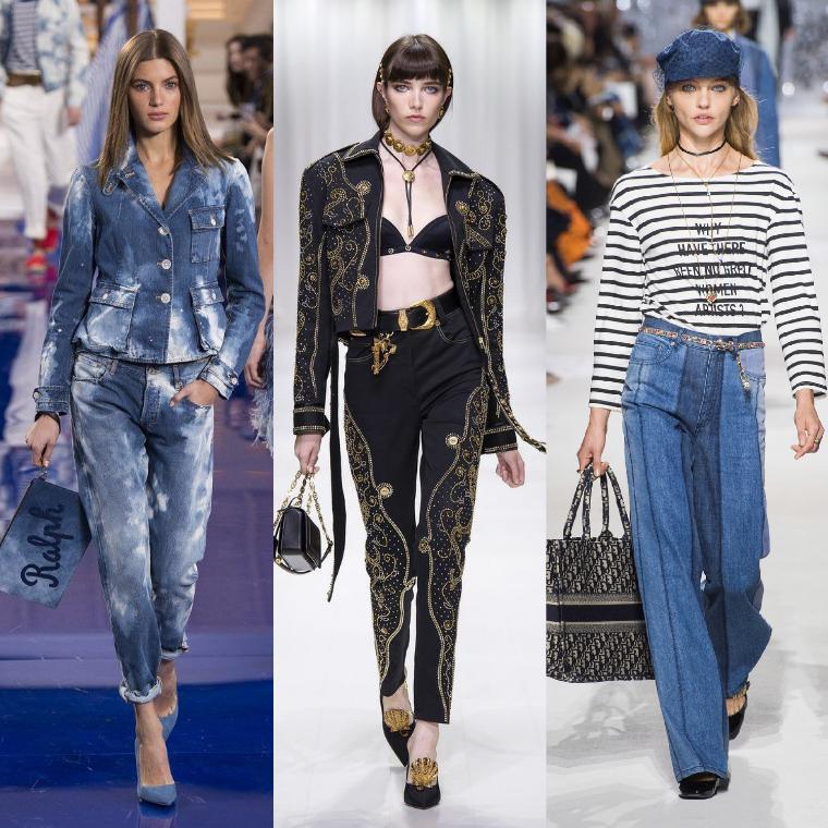 джинсы разного фасона