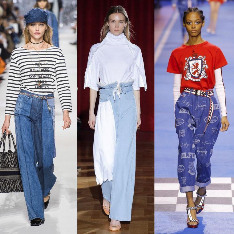 джинсы свободного кроя