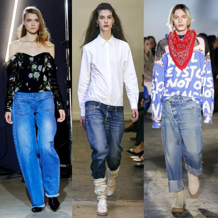 модные джинсы-бойфренды